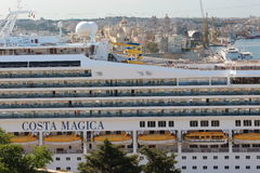 Costa Magica cruise ship in Valletta Royalty Free Stock Image