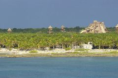 Costa Maya coast, Mexico, Caribbean Stock Image