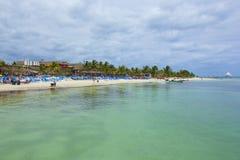 Costa Maya-kust, Caraïbisch Mexico, stock foto