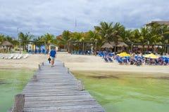 Costa Maya-kust, Caraïbisch Mexico, stock fotografie
