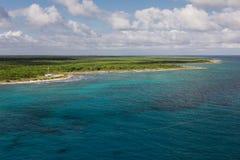 Costa Maya-kustmening stock foto's