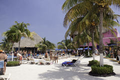 Costa Maya Mexico - Beach Break!. Cruise ship tourists soak up the sun in sunny Costa Maya, Mexico. A recently created cruise port complex, complete with tons of Royalty Free Stock Image