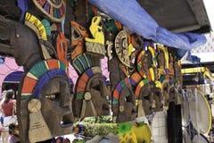 Costa Maya Mexico - Colorful Mayan Masks royalty free stock photo