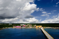 Costa Maya Mexico. The cruise port at Costa Maya Mexico Stock Photography