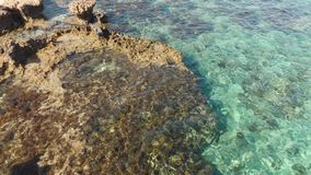 Costa mediterránea de Chipre, fragmento almacen de video