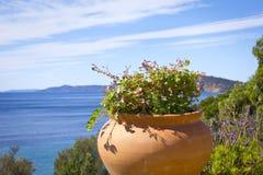 Costa mediterránea hermosa Fotografía de archivo