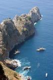 Costa mediterrânea Fotografia de Stock Royalty Free
