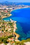 Costa mediterrânea Fotografia de Stock