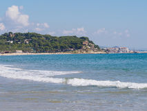 Costa mediterrânea de Viareggio Imagens de Stock
