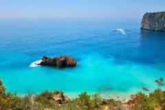 Costa mediterrânea lindo Fotografia de Stock Royalty Free