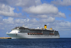 Costa Mediterranea-cruiseschip Stock Foto