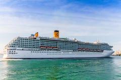 Costa Mediterranea del crucero Fotografía de archivo libre de regalías