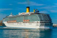 Costa Mediterranea dell'incrociatore Fotografie Stock Libere da Diritti