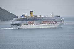 Costa Mediterranea statek wycieczkowy w Adriatyckim morzu Fotografia Stock