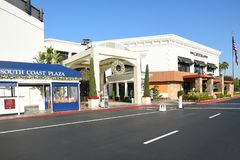 Capital Grille Souith Coast Plaza. COSTA MESA, CA - DEC 1, 2017: Capital Grille South Coast Plaza amnd valet parking. The upscale steakhouse chain offers classic Stock Images