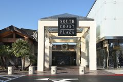 South Coast Plaza east entrance. COSTA MESA, CA - DEC 1, 2017: South Coast Plaza east entrance. The mall is one of the largest on the west coast of the US Royalty Free Stock Image