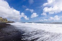 Costa nera della sabbia Fotografia Stock