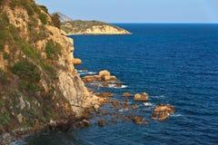 Costa no console da Ilha de Elba Imagens de Stock