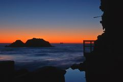 Costa no crepúsculo fotos de stock royalty free