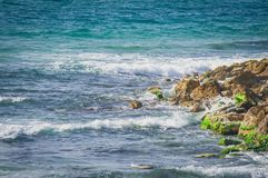 Costa no mar Mediterrâneo, Tel Aviv, Israel Imagem de Stock Royalty Free