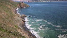 Costa no passo do Golden Gate vídeos de arquivo