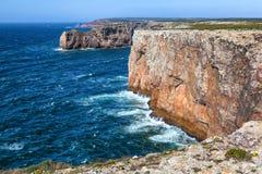 Costa norte do cabo São Vicente, Sagres, Portugal imagens de stock royalty free