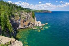 Costa norte, superior de lago fotografia de stock