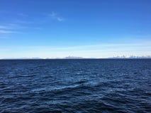 A costa norueguesa fora de Bodo Fotografia de Stock