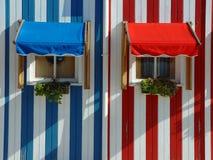 Costa Nova. A tipical village in Aveiro stock photos