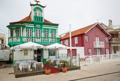 Costa Nova, Aveiro, Centro region, Portugal Stock Photos