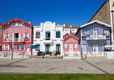 Costa-Nova, Aveiro, Portugal Stockbilder