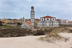Costa Nova (Aveiro, Portugal) Church View Royalty Free Stock Photography