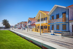 Costa Nova, Aveiro, Portugal Royalty Free Stock Photography