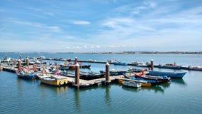 Costa Nova Fishing Pier Arkivbilder