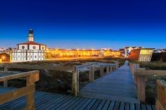 Costa Nova hace a Prado foto de archivo libre de regalías