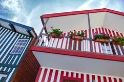 Costa Nova Houses 2 Imagens de Stock Royalty Free