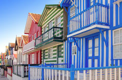 Costa Nova Houses 4 Stock Photos