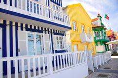 Costa Nova Houses 3 Stock Photos