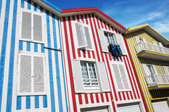 Costa Nova Houses 5 Royalty Free Stock Image