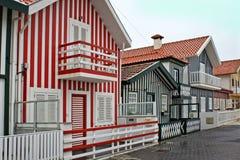 Costa nowa paskujących rybaków domy zdjęcia royalty free