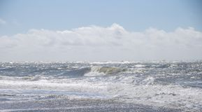 A costa ocidental de Dinamarca imagens de stock
