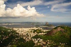 Costa ocidental do louro de Guanabara, Rio de Janeiro foto de stock
