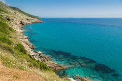 Costa oeste de Cap Corse em Corica Imagem de Stock Royalty Free
