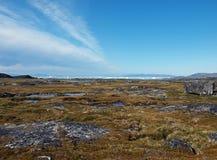 Costa oeste de Groenlandia en verano. Imagenes de archivo