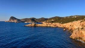 Costa oeste de Ibiza Imagen de archivo libre de regalías