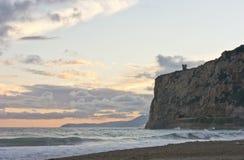 Costa oeste de Ligure del final Fotografía de archivo
