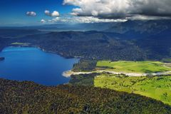 Costa oeste de Nova Zelândia Foto de Stock