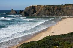 Costa oeste de Portugal imagens de stock