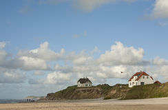 Costa oeste Dinamarca imagem de stock royalty free
