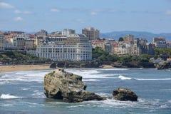 Costa oeste francesa de Biarritz imagem de stock